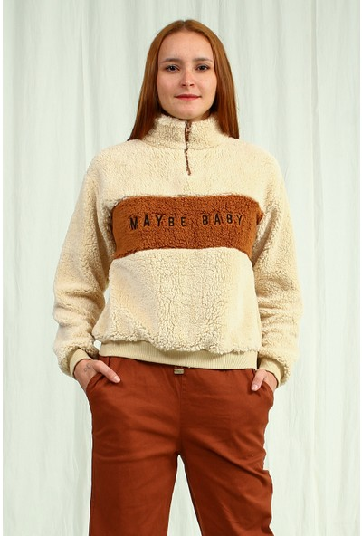 Collezione Kadın Bej Regular Sweatshirt