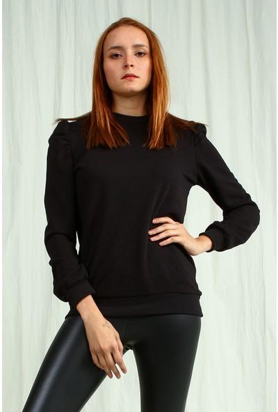 Collezione Kadın Siyah Regular Sweatshirt