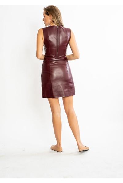 Studıo Morıano Hakiki Deri Kadın Deri Elbise 19Be001