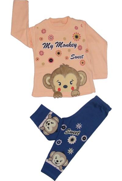 Eymus Maymun Nakışlı Ikili Pijama Takımı 1 Yaş