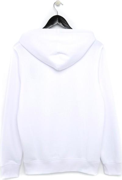 Nil Hediye Beyaz Unisex Sweatshirt XS