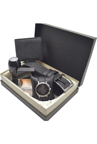 Spectrum Erkek Kol Saati Seti Gümüş - Saat - Avon Parfüm - Kemer - Cüzdan