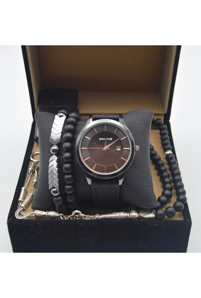 Spectrum Es51 Erkek Saat Seti - Kol Saati - Tesbih - Çakmak - 2 Bileklik