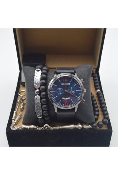 Spectrum Es53 Erkek Saat Seti - Kol Saati - Tesbih - Çakmak - 2 Bileklik