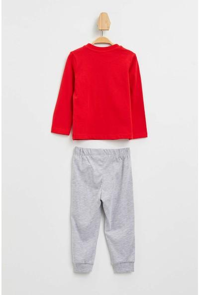 DeFacto Erkek Bebek Mickey Mouse Lisanslı Pijama Takımı