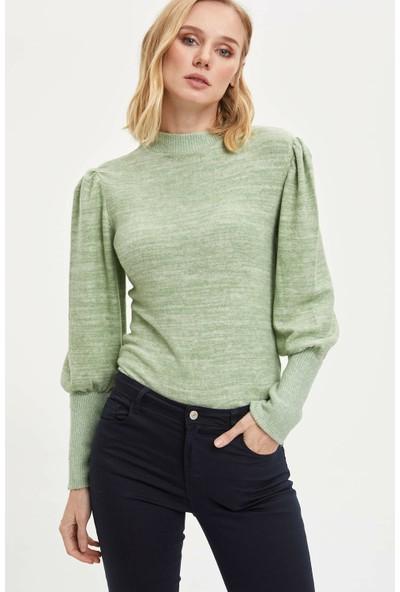 Defacto Kadın Balon Kol Uzun Kollu T-shirt