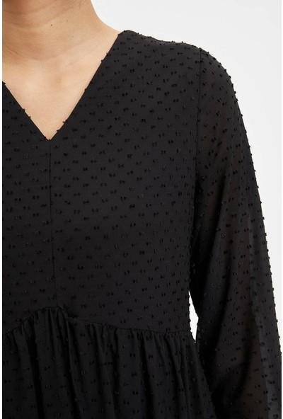 Defacto Kadın Dokuma Elbise