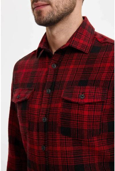 Defacto Erkek Kareli Oduncu Gömlek