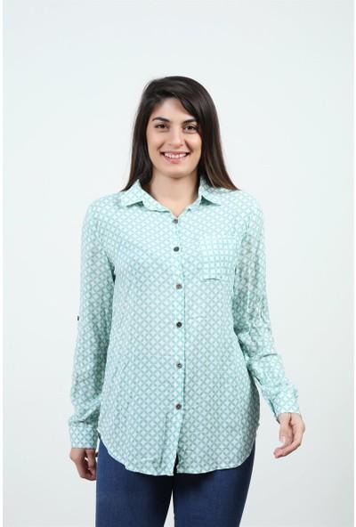 Konilya Mint Yeşili Gömlek