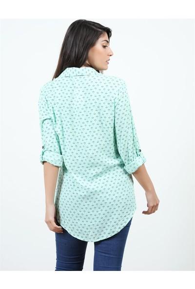 Konilya Mint Yeşili Uzun Gömlek