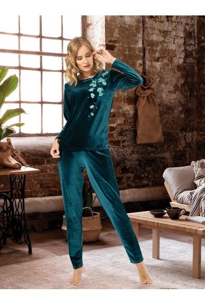 NBB Kadife Kadın Pijama Takımı 66617