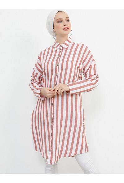 Refka Kadın Tesettür Doğal Kumaşlı Cep Detaylı Tunik