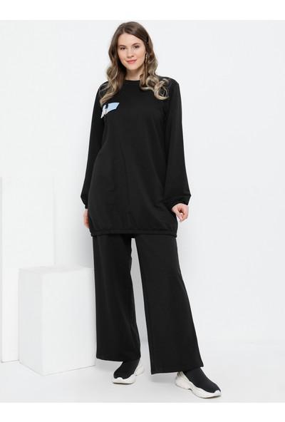 Alia Kadın Tesettür Tunik Pantolon İkili Takım