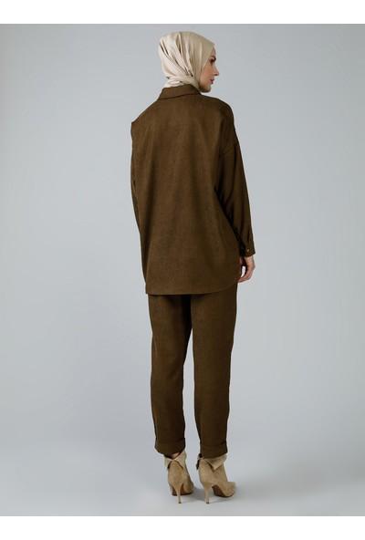 Refka Kadın Tesettür Gömlek Tunik Pantolon İkili Takım