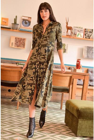New Laviva Çok Renkli Kadın Elbise