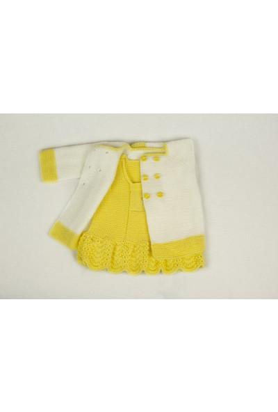 HL Kız Çocuk Örgü Elbise Ceket Takım
