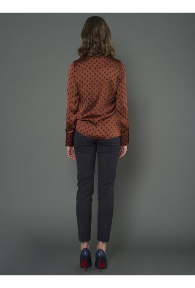 For You Moda Kadın Puantiyeli Gömlek