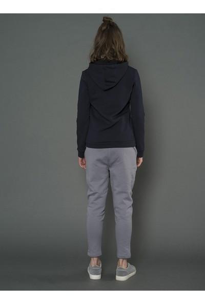 For You Moda Kadın Kapüşonlu Yıldız Simli Baskılı Sweatshirt