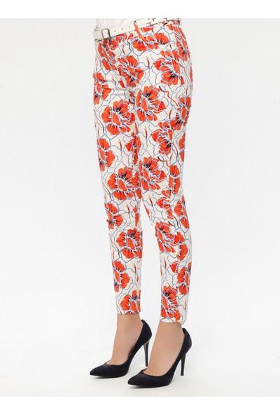 Sln Kadın Desenli Pantolon