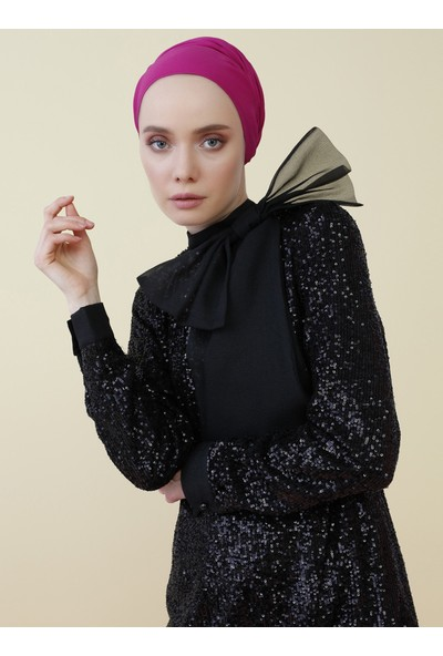 Nihan Peker X Modanisa Kadın Yaka Detaylı Payet İşlemeli Abiye Bluz
