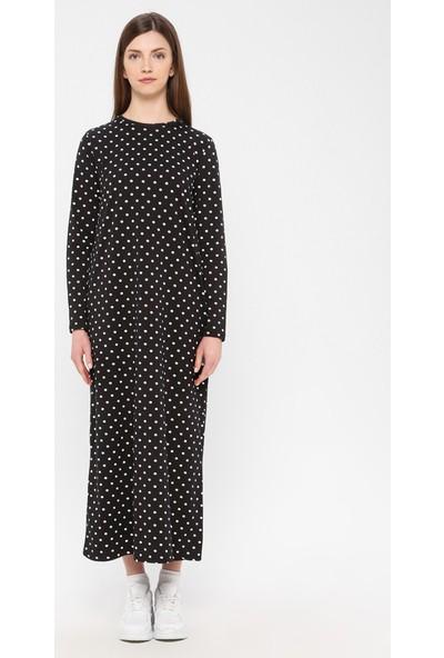 Siyah İnci Kadın Pamuklu Elbise