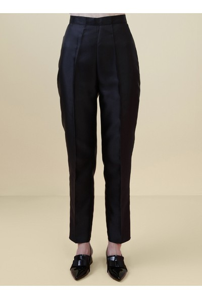 Nihan Peker X Modanisa Kadın Parlak Renkli Abiye Pantolon