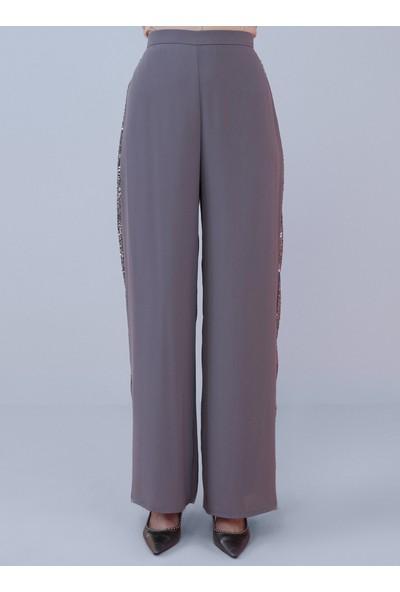 Nihan Peker X Modanisa Kadın Payet Detaylı Abiye Pantolon