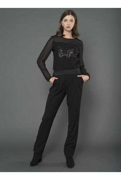 For You Moda Kadın pul Detaylı Tulum
