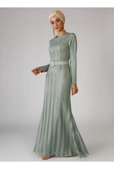 Mwedding Çağla Kemer Detaylı Abiye Elbise
