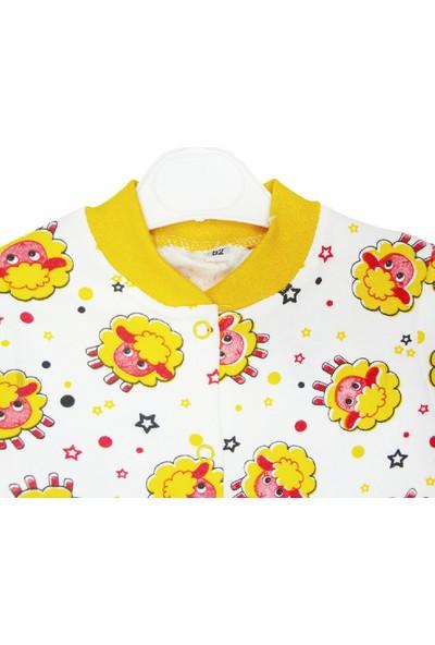 Mıdırık Kız Bebek Patikli Pijama Tulum