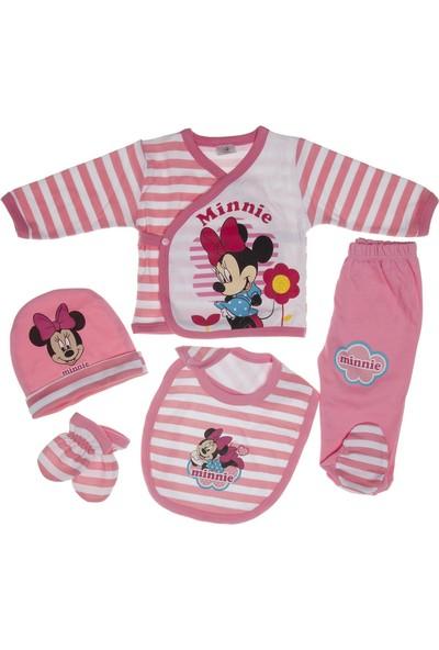 Disneybaby Minnie Mouse Hoşgeldin Bebek 5'li Set 0 - 9 Ay