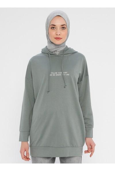Laruj Kapüşonlu Kadın Sweatshirtshirt Çağla