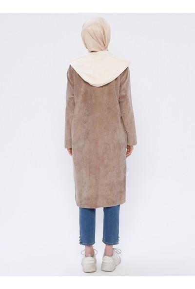 Puane Kadife Kadın Tunik&Ceket İkili Takım Bej