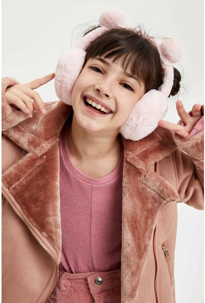 Defacto Kız Çocuk Peluş Kulaklık