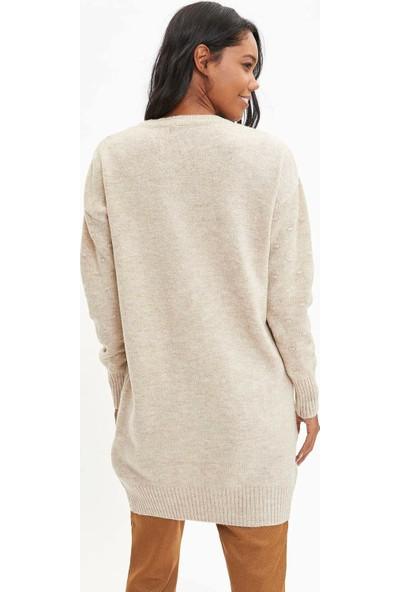Defacto Kadın Uzun Triko Tunik
