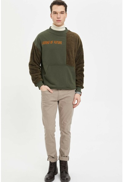 DeFacto Slim Fit Sweatshirt N9328AZ19CW