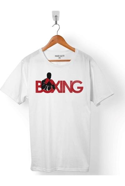 Kendim Seçtim Box Boks Eldiveni Boxing Fight Dövüşçü Erkek Tişört