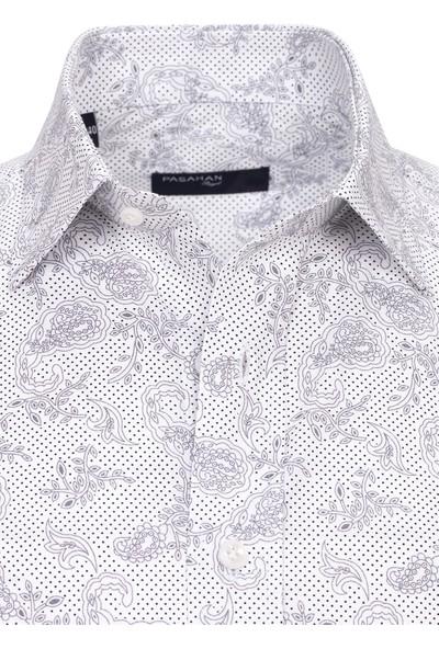 Paşahan Desenli Klasik Gömlek