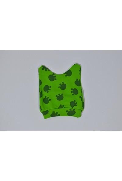 Bossbebe Kurbağalı Eldivenli Şapkalı 3'lü Zıbın Takımı