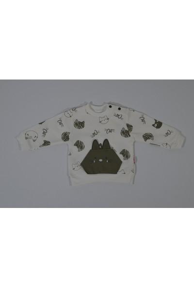 Bossbebe Kulaklı Kedi Erkek 2'li Takım Yeşil