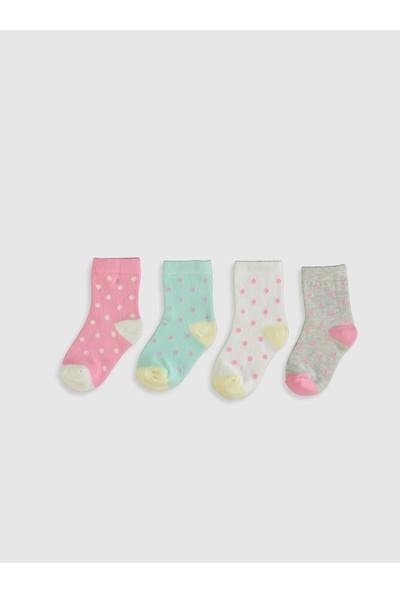 LC Waikiki Kız Bebek Soket Çorap 4'Lü