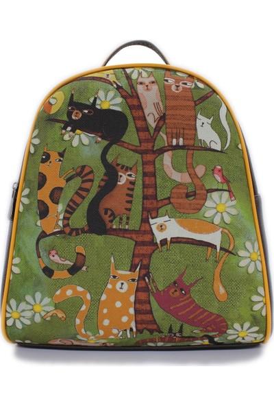 Şaşıkedi Cattree Kahverengi Küçük Sırt Çantası