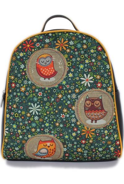 Şaşıkedi Owl Siyah Küçük Sırt Çantası