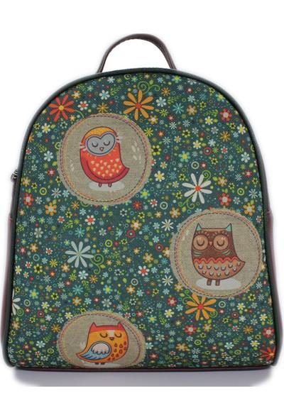 Şaşıkedi Owl Bordo Küçük Sırt Çantası
