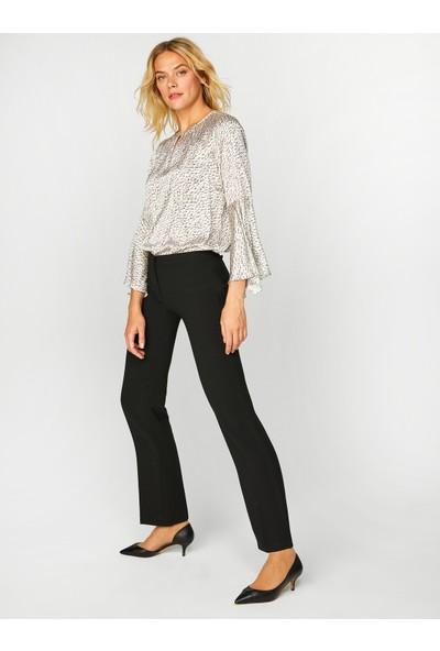 Faik Sönmez Kadın Normal Bel Normal Boy Straight Pantolon 60053