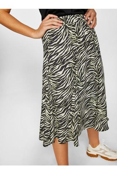 Faik Sönmez Kadın Zebra Desenli Etek 60329