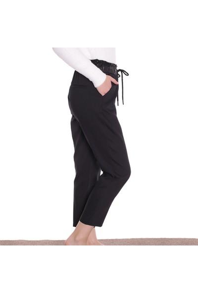 Dilvin Kadın Beli Lastikli Pantolon PA7771 Siyah 29W34007771