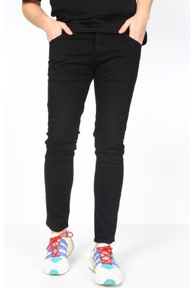 Trend Setter Erkek Siyah Kot Pantolon Dar Kesim