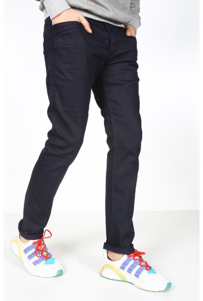 Denim Republic Erkek Lacivert Mumlu Kaplama Pantolon Regular Fit