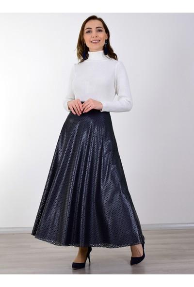 Sew&Design Cosy Lazer Deri Etek Lacivert